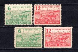 1945 GERMANY SOVIET ZONE SACHSEN LAND REFORMS 2x Sets MICHEL: 85-86A MH * - Zone Soviétique