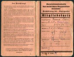 1935+ Germany DR Hamburg Ausgabe Mitgliedskarte Mannheim BDWA - Germany