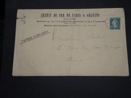 FRANCE - Type Semeuse Perforé PO Sur Enveloppe En 1915 - A Voir - L 2401 - Perforés