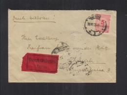 Dt. Reich Expres Brief 1923 Mannheim Nach Zürich - Deutschland