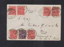 Dt. Reich Brief 1922 Wiesbaden Nach Zürich - Briefe U. Dokumente