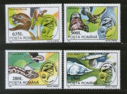 Romania 1994 Birds Snake Fish Wildlife Animals Fauna Sc 3939-42 MNH # 4068 - Snakes