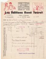 Facture 21/7/1943 Les Editions RENE TOURET Contes De Perrault Zozo En Avion LA CHATRE  Indre - Manque - France