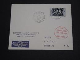 NOUVELLE CALÉDONIE - Enveloppe 1ère Liaison Nouvelle Calédonie / Nouvelle Zélande En 1957 - A Voir - L 2416 - Nueva Caledonia