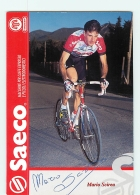Mario SCIREA , Autographe Manuscrit, Dédicace . 2 Scans. Cyclisme. Saeco - Cycling