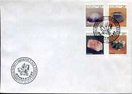 13019  Kazakstan, Fdc 1997  Minerals,  Mineraux - Minerals