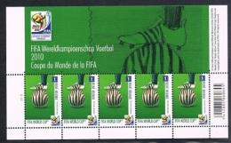 Année 2010 -  COB4044** Feuillet De 5 - Pl1 - Coupe Du Monde De La FIFA - Cote 15,00€ - Feuillets