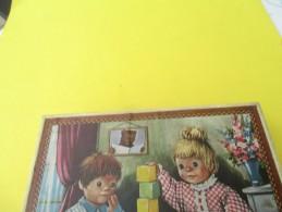 Boite De Cubes Pour Enfants/ 12 Cubes /ORTF/ Nicolas Et Pimprenelle/Peter Pan/Blanche Neige/Nounours/etc/années 60 JE195 - Jouets Anciens