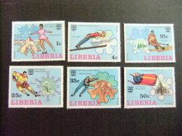 LIBERIA 1976 Jeux Olympiques à Innsbruck Yvert Nº 697 / 702 ** MNH - Liberia
