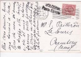 ITALIE 1915 CARTE DE BOLOGNA - 1900-44 Vittorio Emanuele III