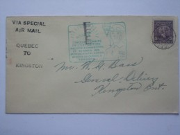 CANADA 1928 FLIGHT COVER QUEBEC TO KINGSTON ONTARIO  TO CANADIAN NATIONAL EXHIBITION CACHETS FRONT AND REAR - Erst- U. Sonderflugbriefe
