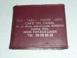 Rare Ancien Miroir De Poche/sac à Main Publicitaire, Répertoire, Pub Bar Tabac Presse Café Du Canal Fay Aux Loges 45 - Spiegel
