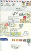 Large Format F35 Covers Used/registered Mexico Canada Venezuela 1987-1991 (4pcs) - Mexico