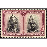 ES432STV-LFT***432S.Spain.Esgane.Papa PIO   Xl Y Rey ALFONSO Xlll.CATACUMBAS DE SAN DAMASO EN ROMA.1928 (Ed 432**) - 1889-1931 Reino: Alfonso XIII