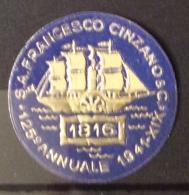 ENOLOGIA S.A. FRANCESCO CINZANO & C. 125 ANNUALE 1941 - XIX  RARO CHIUDILETTERA - Cinderellas