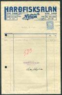 1941 Iceland Hadfisksalan Vitam Reykjavik Fish Merchant Receipt, Ram Revenue - 1918-1944 Administration Autonome
