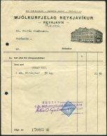 1936 Iceland Mjolkurfjelag Reykjavikur Department Store Receipt, Reykjavik Ram Revenue Fiscal - 1918-1944 Administration Autonome