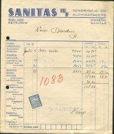 1939 Iceland Sanitas Shop Receipt, Reykjavik Ram Revenue Fiscal - 1918-1944 Administration Autonome