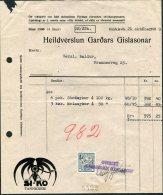Iceland Heildverslun Gardars Gislasonar SI-KO Tannkrem Shop Receipt, Reykjavik Ram Revenue Fiscal - 1918-1944 Administration Autonome
