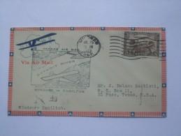 CANADA 1928 FIRST FLIGHT COVER WINDSOR TO HAMILTON - Erst- U. Sonderflugbriefe
