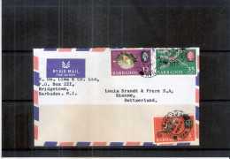 Cover From Barbados To Switzerland - 1966 (to See) - Barbades (1966-...)