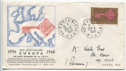 Europa CEPT, Circulated FDC, 1968 - 1968