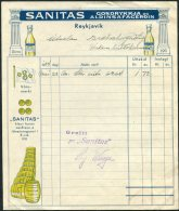 1934 Iceland Sanitas Saftir / Gosdrykkja Og Aldinsafagerdin Illustrated Advertising Receipt - Invoices & Commercial Documents