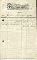 1937 Iceland Arni Jonsson Timburverslum Ship Illustrated Advertising Receipt - Invoices & Commercial Documents