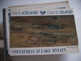 IJsland Iceland Island Solfataras Lake Myvatn - IJsland