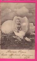 CPA (RÉF : VV780) (FANTAISIE BÉBÉ) Bébés Nus Dans Une Coquille D'oeuf - Bébés