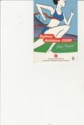 CARTE POSTALE PUBLICITAIRE - CAISSE D'EPARGNE- SYDNEY ATHLETES 2000- - Athlétisme