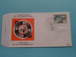 3de Werelddag Van De TELEKOMMUNIKATIE 3me Journée MONDIALE ( F.D.C. P. 328 ) Stempel ANTWERPEN 15-5-1971 ( Zie Foto ) ! - FDC