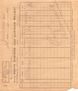 BON DE TRANSPORT SOUTH EASTERN AND CHATHAM RAILWAY DU 28 AVRIL 1911 - Biglietti Di Trasporto