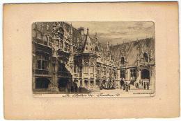 MENU  10 JUIN 1928  LE PALAIS DE JUSTICE  ROUEN EAU FORTE PAR CH PINET   ***  A    SAISIR **** - Menus