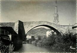 Dép 12 - St Affrique - Saint Affrique - Le Pont Gothique Et Notre Dame De La Miséricorde - Semi Moderne Grand Format - Saint Affrique