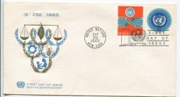 To Live Together In Peace, FDC, 1965 - FDC