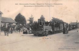 ¤¤  -  2546   -  CHALLANS   -  Départ Du Train Pour FROMENTINE - Excursions à NOIRMOUTIER Et L'ILE-d'YEU  -   ¤¤ - Challans