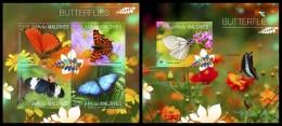 MALDIVES 2014 - Butterflies - YT 4513-6 + BF726; CV = 26 € - Insecten
