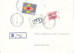 REGISTERED,MIX FRANKING CVR WITH RED CROSS 1966 AS ADDITIONAL - 1945-1992 Sozialistische Föderative Republik Jugoslawien