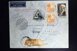 Netherlands East Indies UIVER Return Flight Aangetekend Bander Masir Zuid Kalimmantan Den Haag 1934 - Indes Néerlandaises