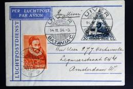 Netherlands East Indies UIVER Return Flight BJawa Djember Timor Naar Amsterdam 1934 - Indes Néerlandaises