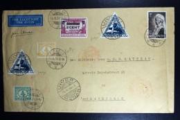 Netherlands East Indies UIVER Return Flight Kisaran Sumatra Naar Den Haag 1934 Met Plaatfouten - Indes Néerlandaises