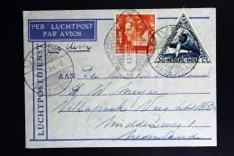 Netherlands East Indies UIVER Return Flight Palembang Naar Den Haag 1934  SEINT VIA RADIO Stempel - Netherlands Indies