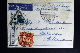Netherlands East Indies UIVER Return Flight  Sanga Sanga Kalimantan Borneo Naar Rotterdam 1934 - Indes Néerlandaises