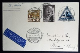 Netherlands East Indies UIVER Return Flight Tjepoe  Batavia Bern Schweiz 1934 + Krant Fliegende Hotel Abgestürzt - Indes Néerlandaises