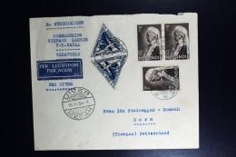 Netherlands East Indies UIVER Return Flight Tapanoeli Medan Horn Thurgau Schweiz 1934 - Nederlands-Indië
