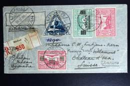 Netherlands East Indies UIVER Return Flight Medang Aangetekend Naar Clarens Schweiz 1934 - Indes Néerlandaises