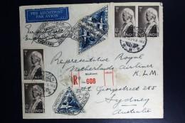 Netherlans East Indies Madioen  To Sydney  Registered Cover  Uiver Snelvlucht 1934 - Indes Néerlandaises