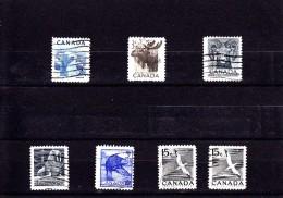 1953 - CANADA - O/FINE CANCELLED - FAUNA  Sc 322, 323, 324, 335, 336, 343