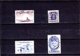 1955 - CANADA - O/FINE CANCELLED - ESKIMO, FAUNA   Sc 351, 352, 353, 354